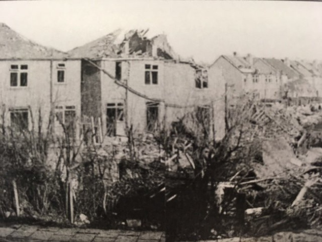 Collier Row Lane after being devastated by bombs - Peter Watt - Havering vs Hitler